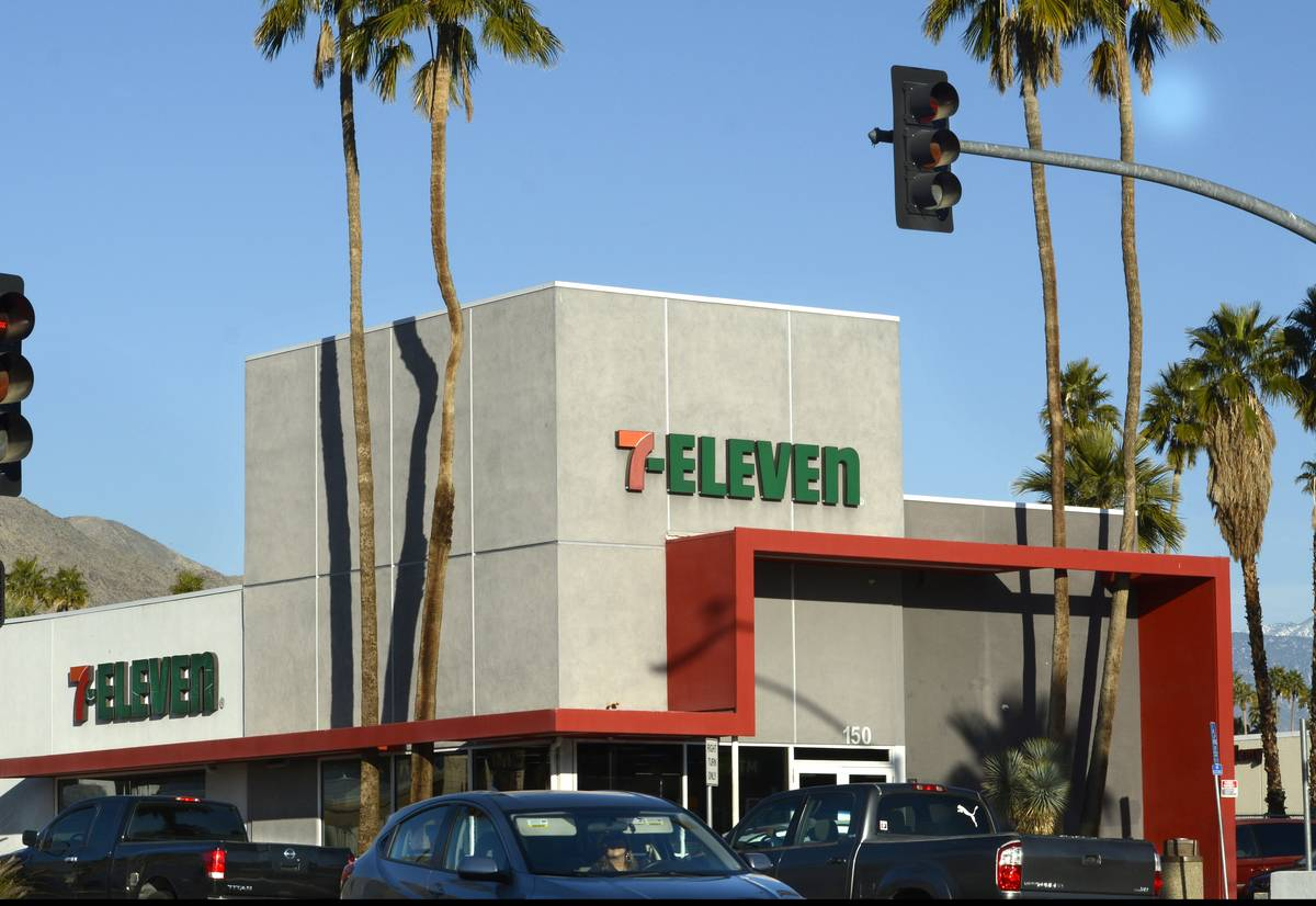 A 7-Eleven store is seen in Palm Springs, CA.