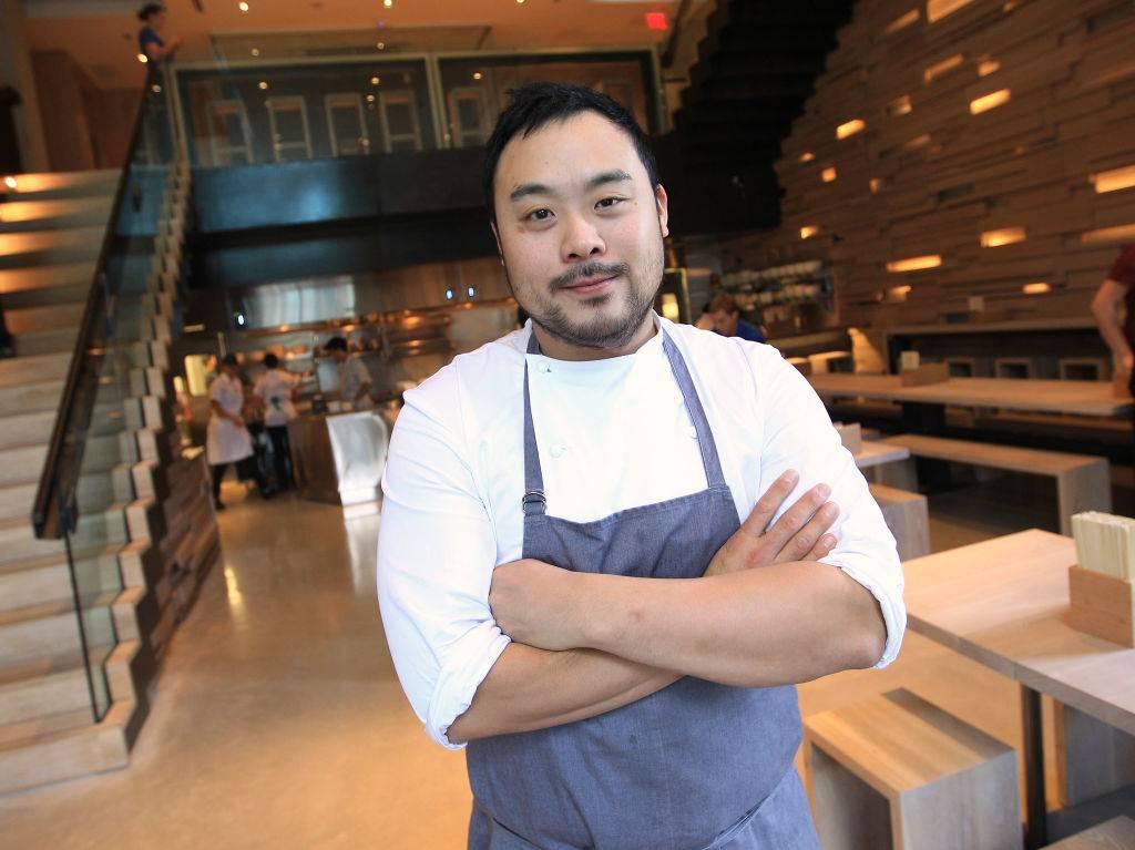 David Chang in restaurant