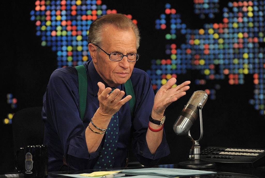 Larry King talking