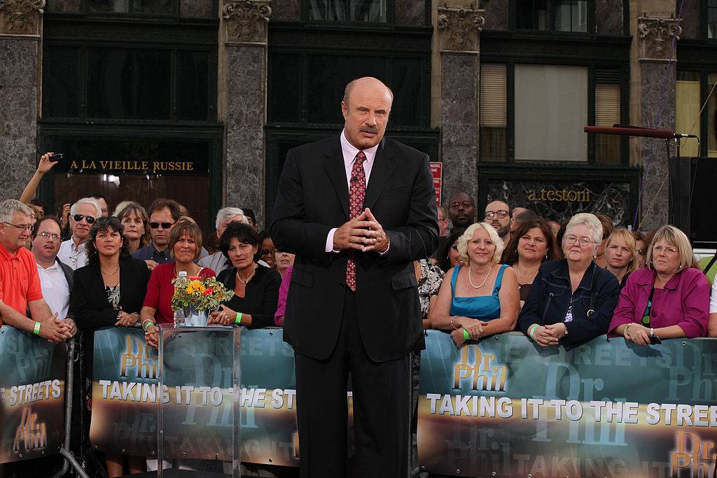 Dr. Phil in front of a crowd