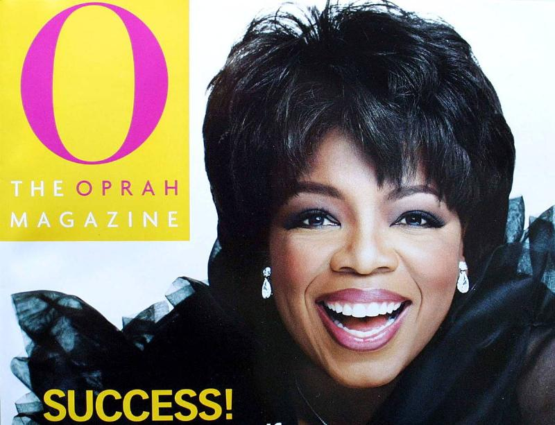 Oprah Winfrey appears on the cover of the September 2001 issue of