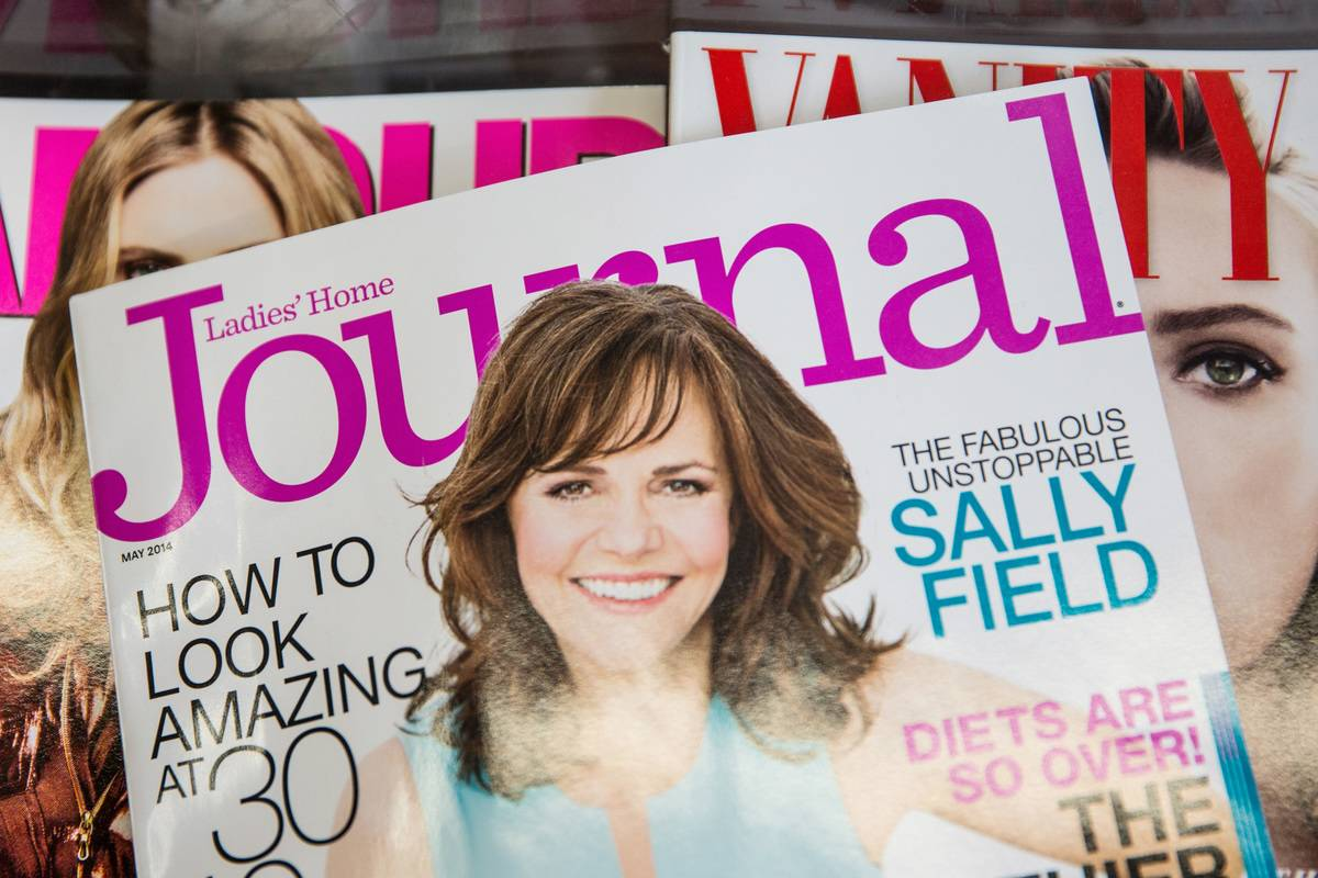 An issue of Ladies' Home Journal is seen on news stands.