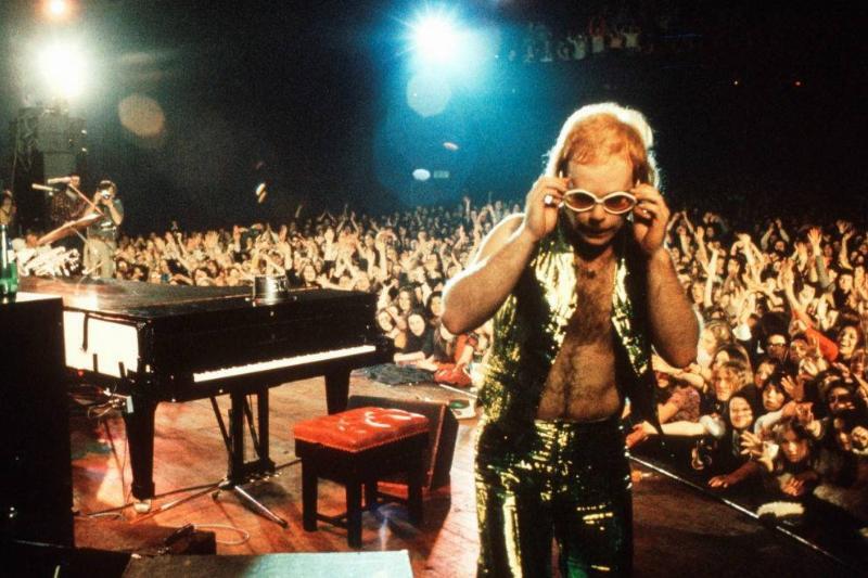 Elton John on stage