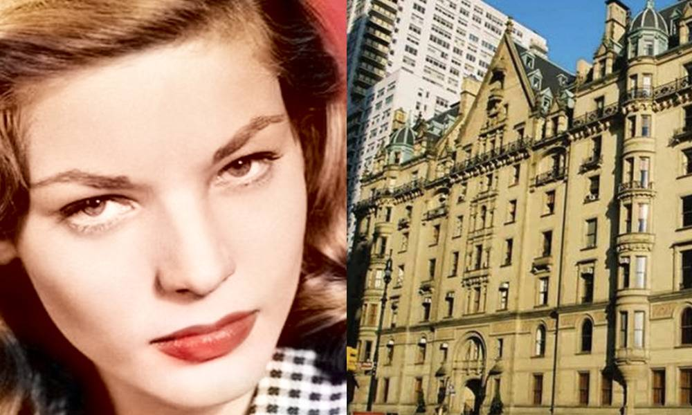 lauren bacall and outside of apartment