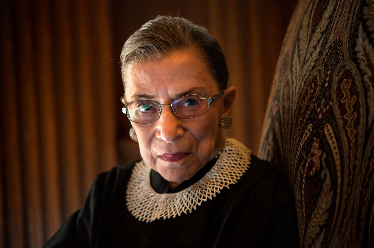 Portrait of the late Supreme Court Justice Ruth Bader Ginsburg