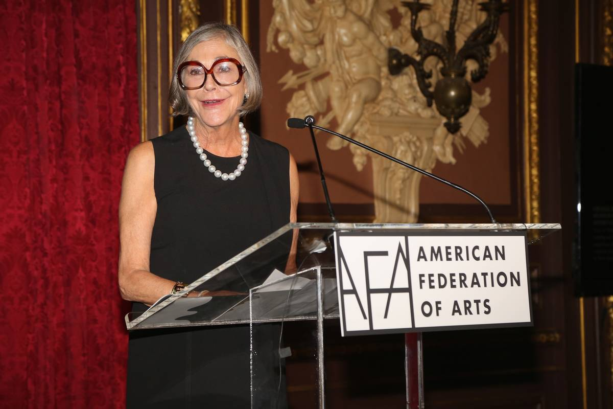 Walmart owner Alice Walton speaks at the American Federation of Arts Gala.