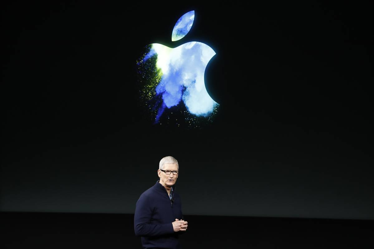 CEO Tim Cook presents new Apple products in 2016.