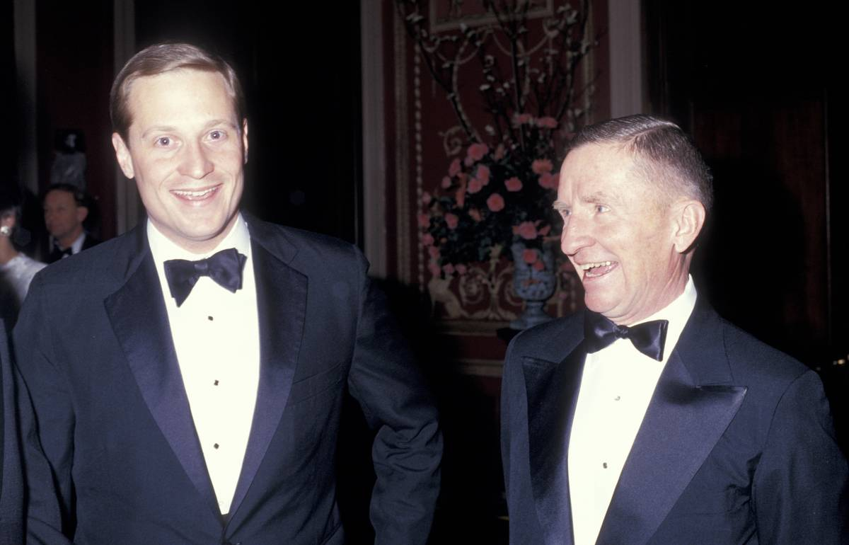 H. Ross Perot Jr. stands next to his father, Ross Perot, who ran for president.