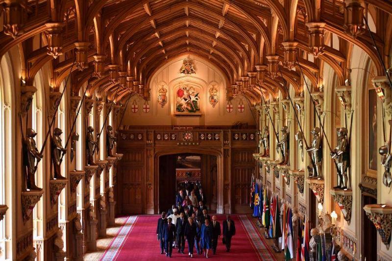 Queen Elizabeth Weekends At Windsor Castle In Berkshire