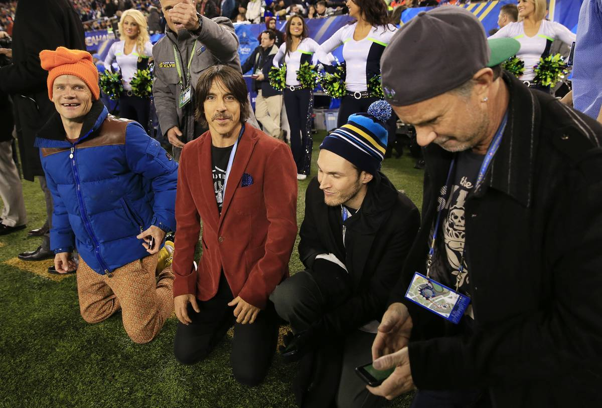 Super Bowl XLVIII performers on the field