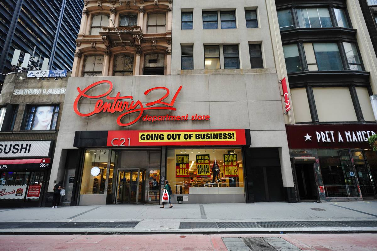 A Century 21 store in New York is going out of business.