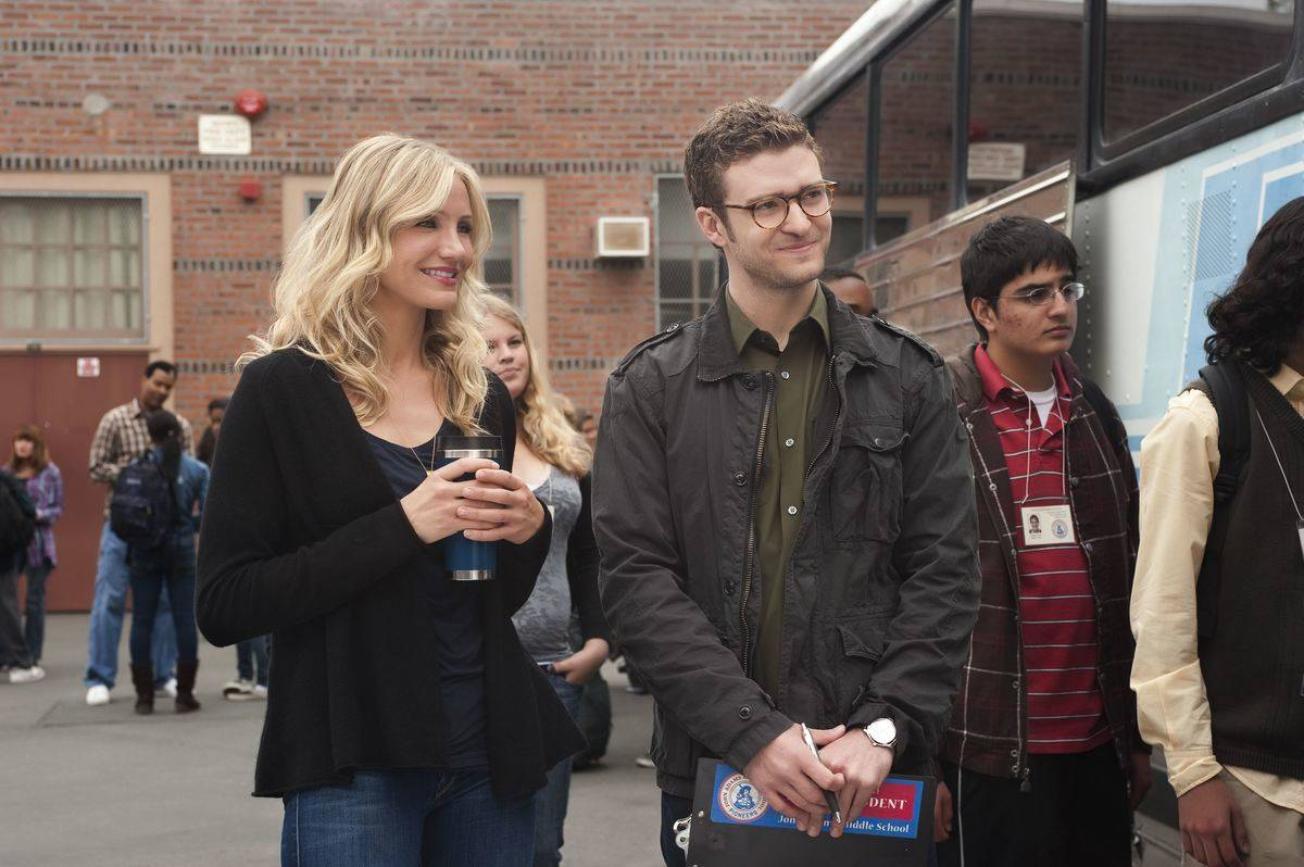 cameron diaz and justin timberlake in bad teacher
