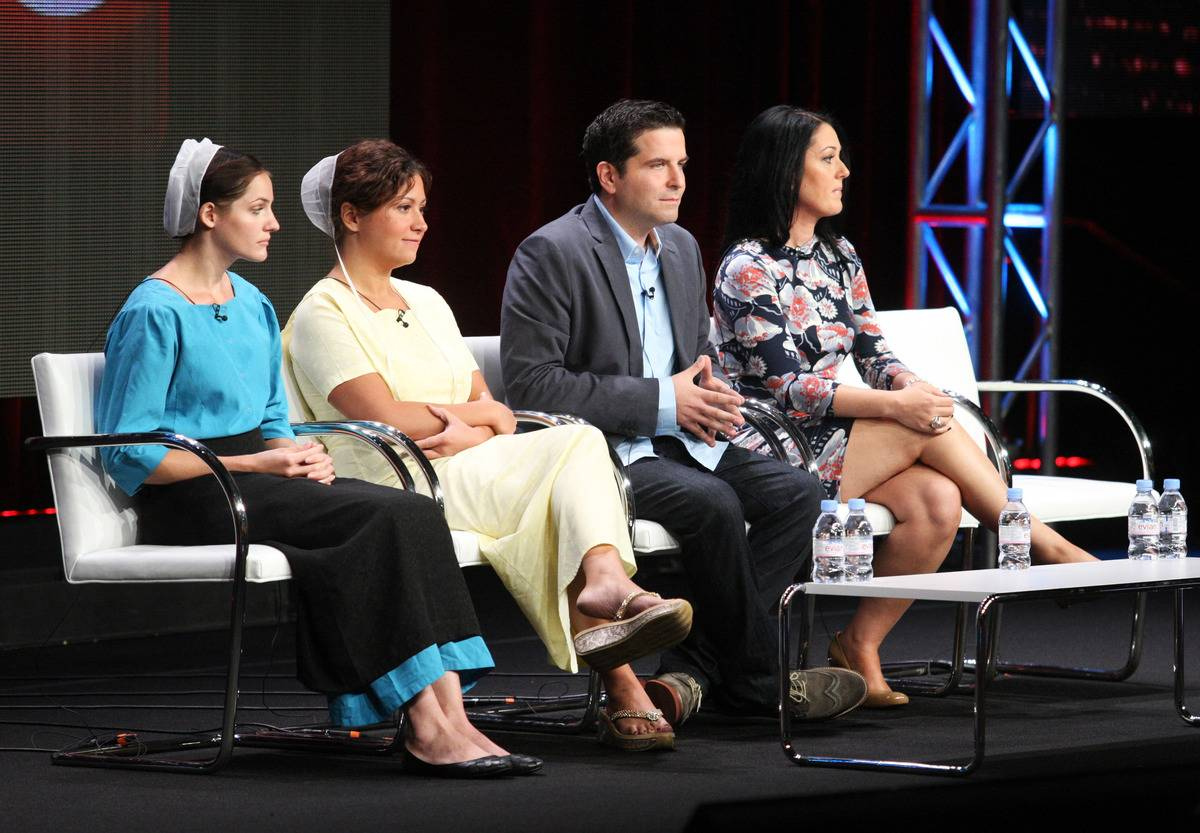 Members of the Breaking Amish cast speak during a TLC panel.