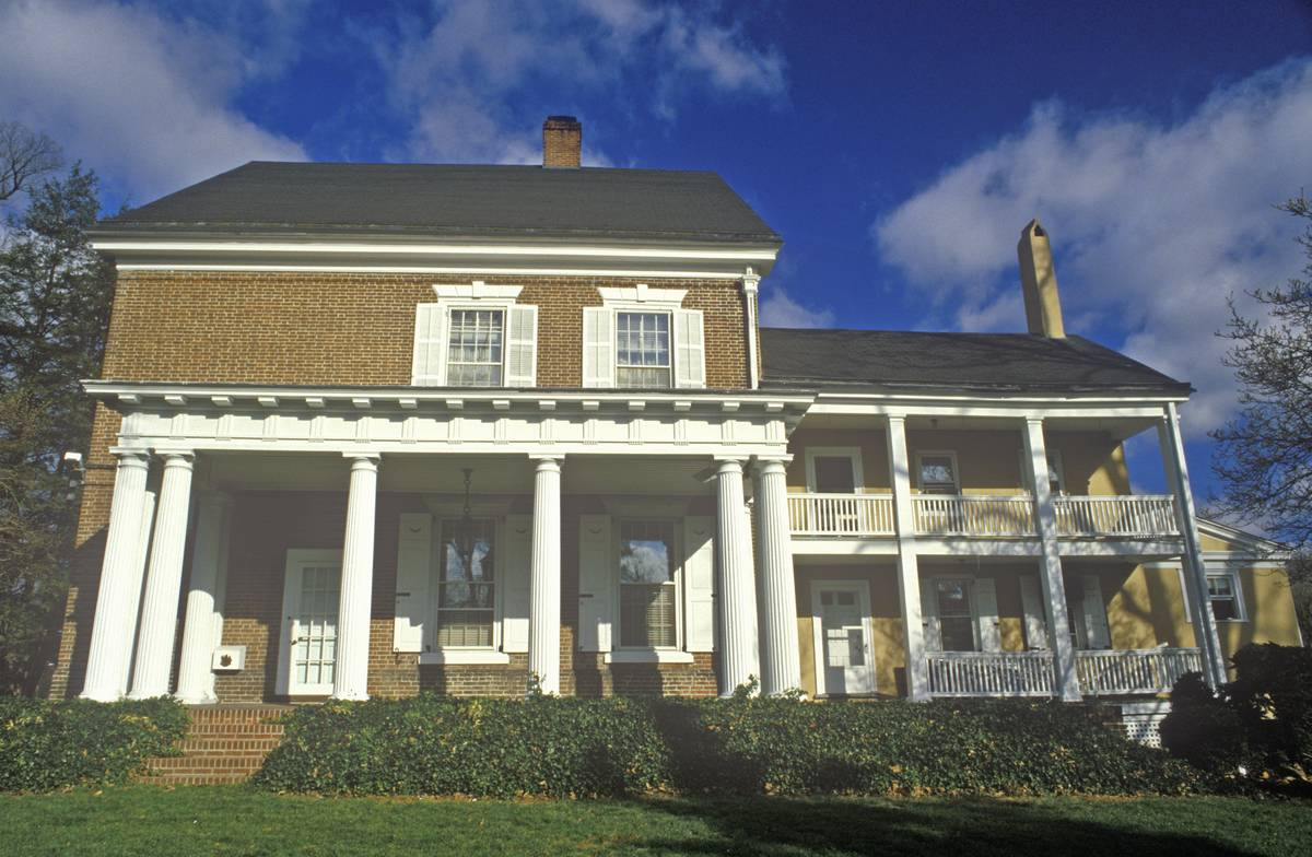 Governor's Mansion in the Historic District of the state's capital, Dover, Delaware.