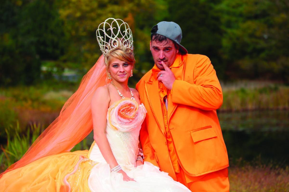 A newlywed couple appears on My Big Fat Gypsy Wedding.