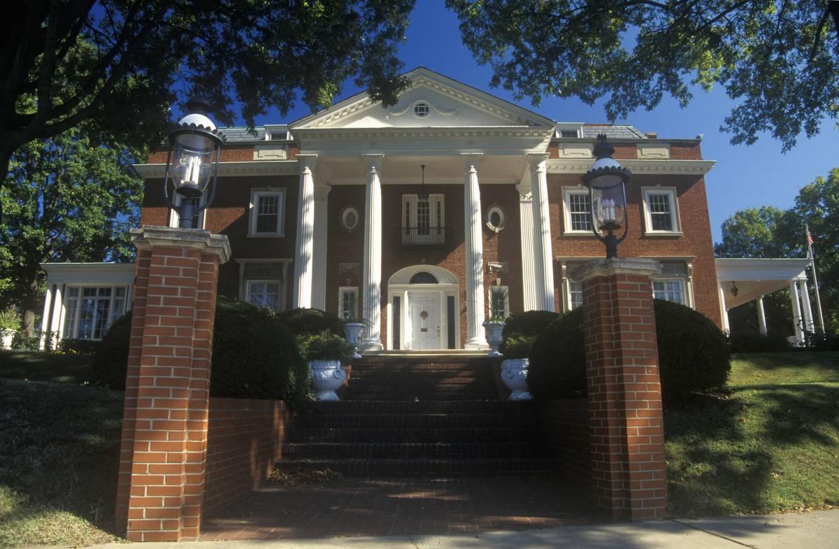 Governor's mansion in Charleston, WV, State Capitol