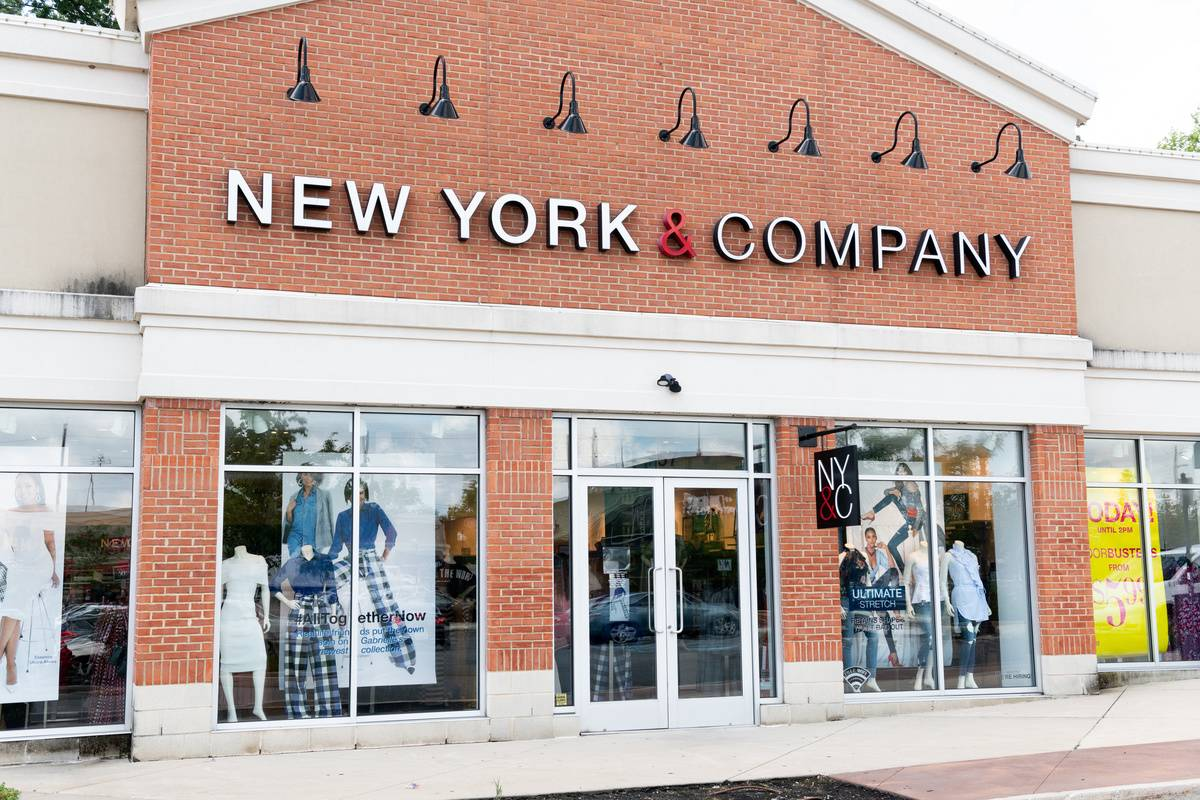 The storefront of a New York & Company is seen.