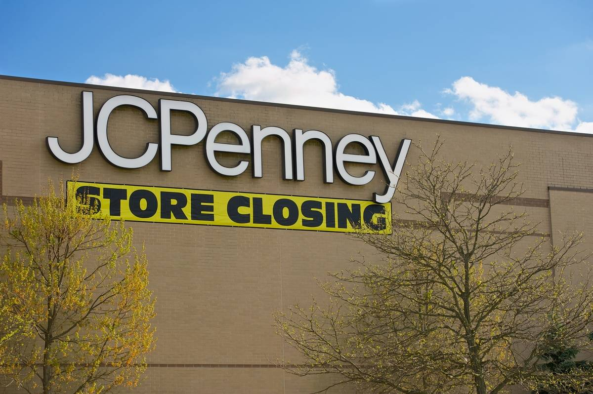 A JC Penny department store has a