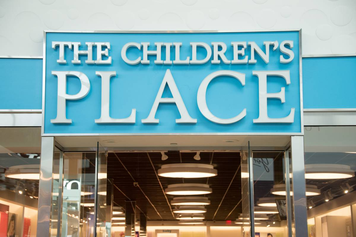 The store entrance of The Children's Place is pictured.