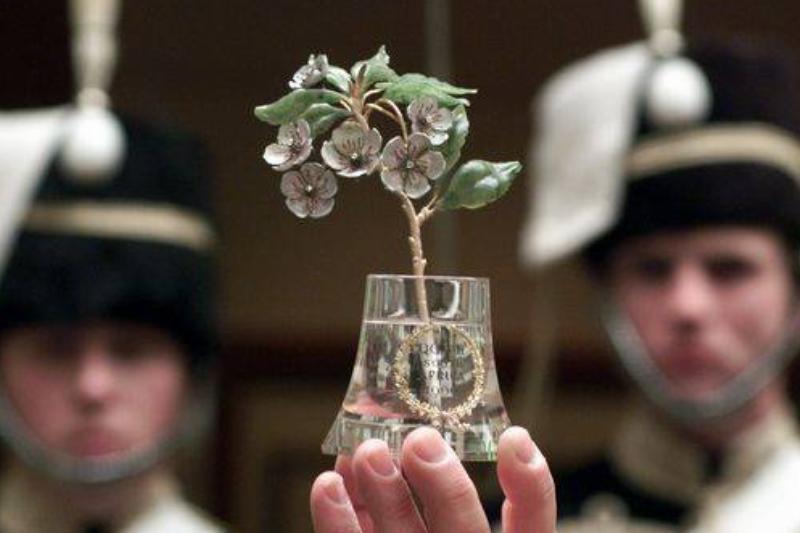 Fabergé Japonica Flower In Vase