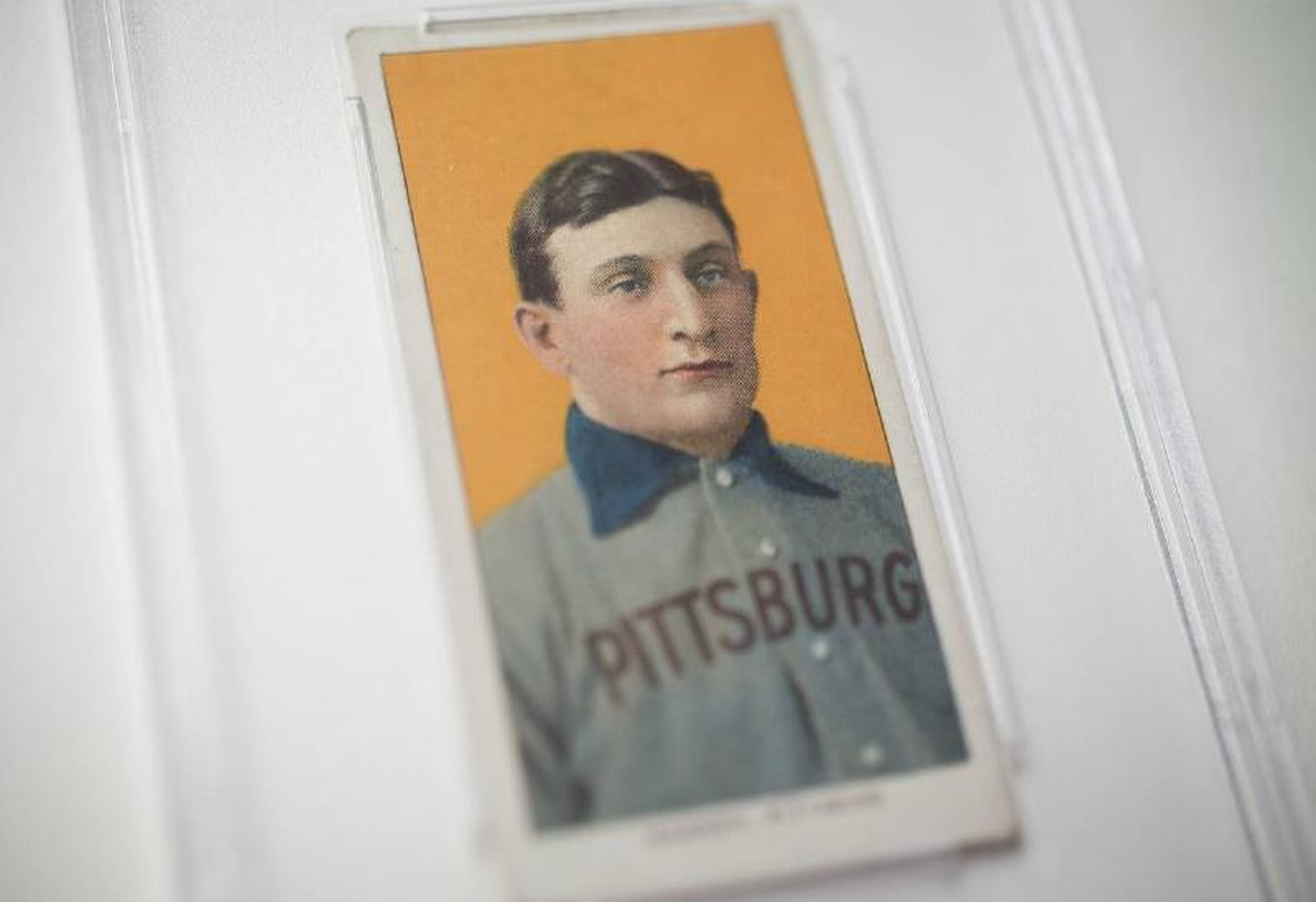 1909 Baseball Card of Pittsburgh Pirates Shortstop Honus Wagner