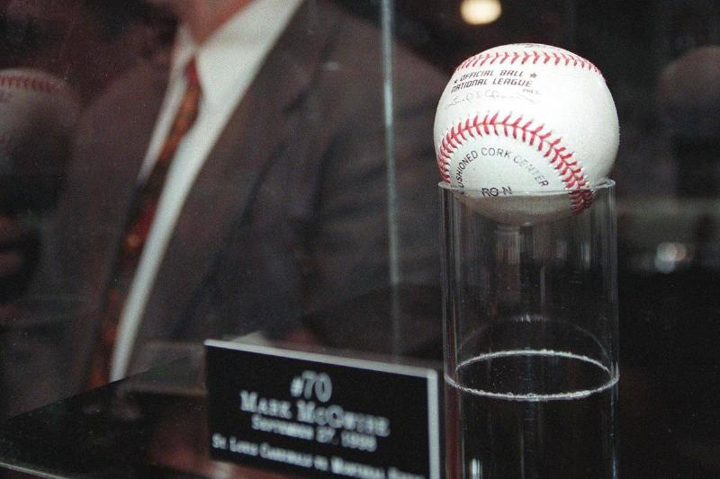 Mark McGwire's 70th Home Run Baseball