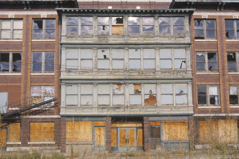 Abandoned brick factory building, East St. Louis