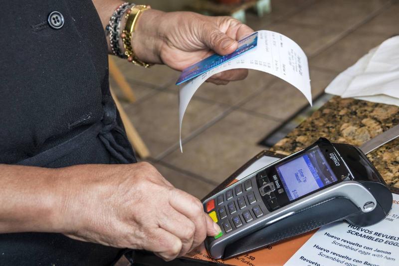 Miami Beach, Tropical Beach Cafe credit card scanner