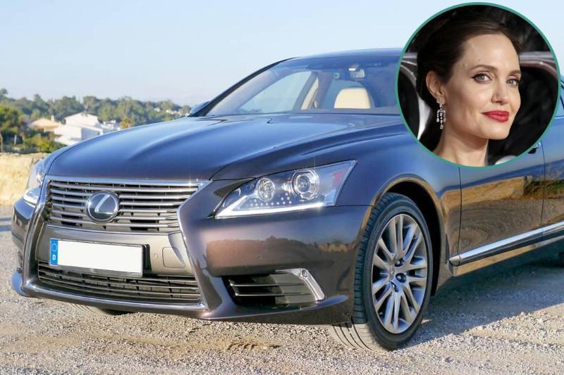 Angelina Jolie - Lexus LS 460 F