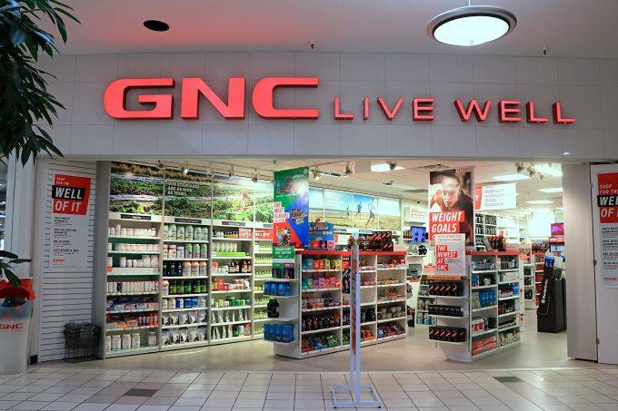 GNC Live Well store entrance within indoor mall