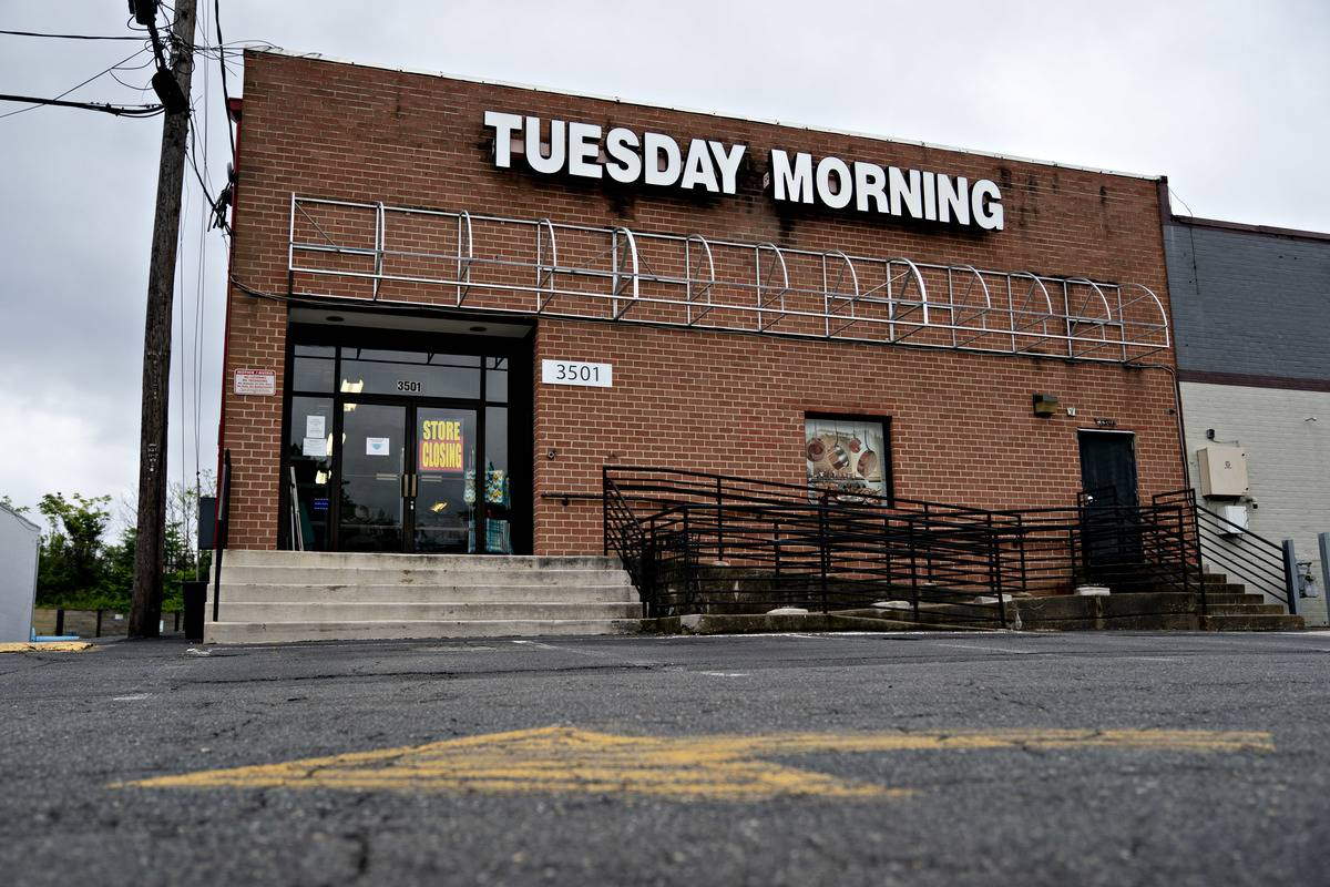 Tuesday Morning Retail Location After Filing For Chapter 11 Bankruptcy